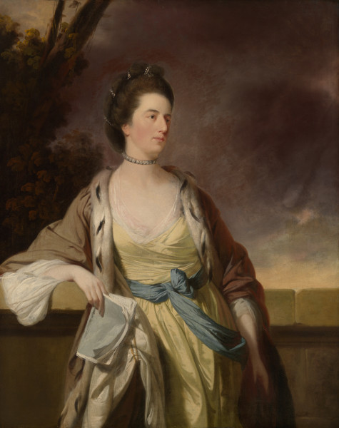 eighteenth century painting of woman