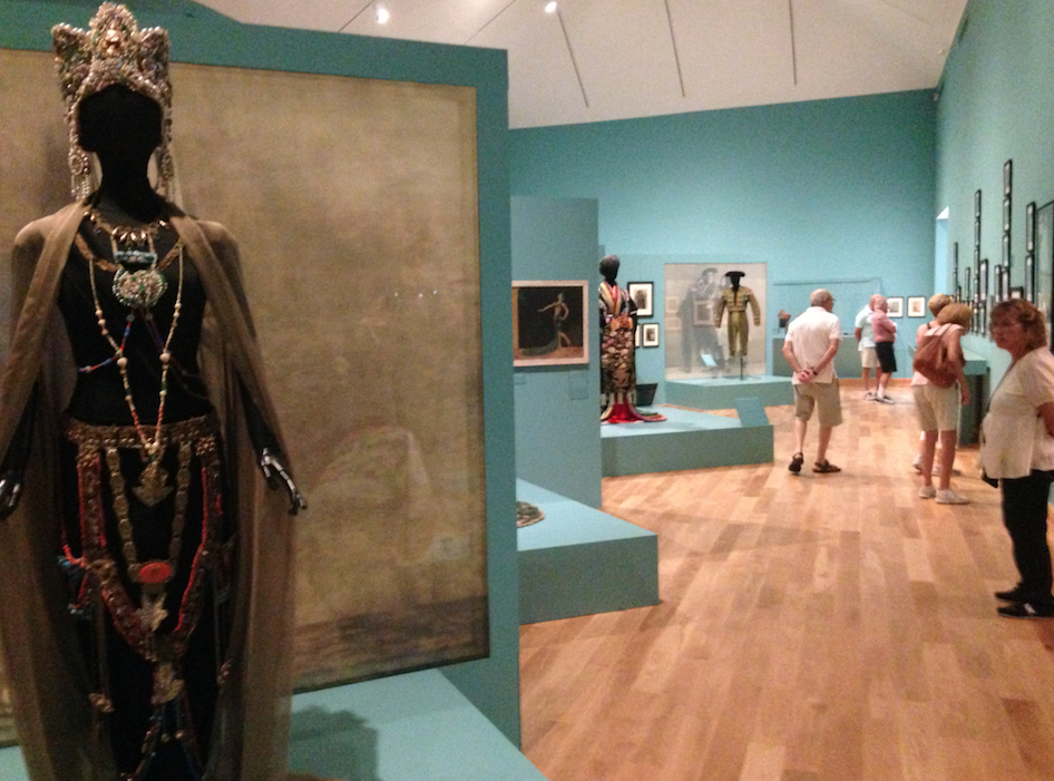a costume in an exhibition
