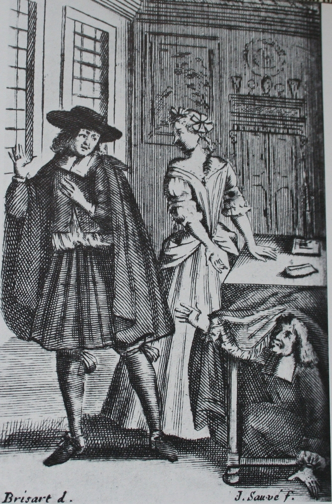 illustration of man and woman from 1600s.