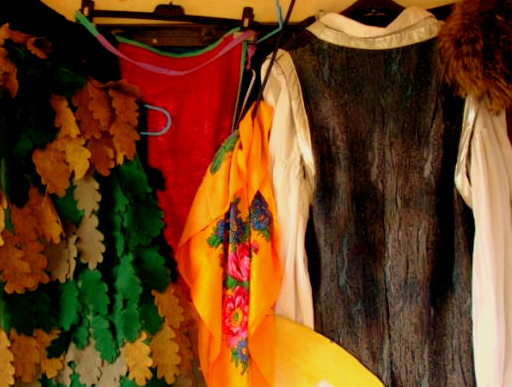 Hanging costumes