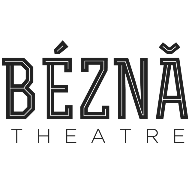 bezna theatre black text