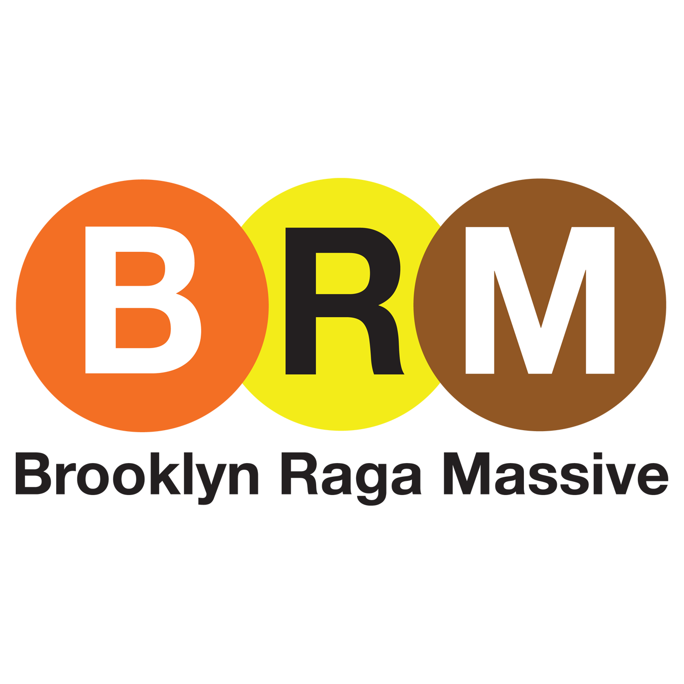 B R M subway tiles with text brooklyn raga massive