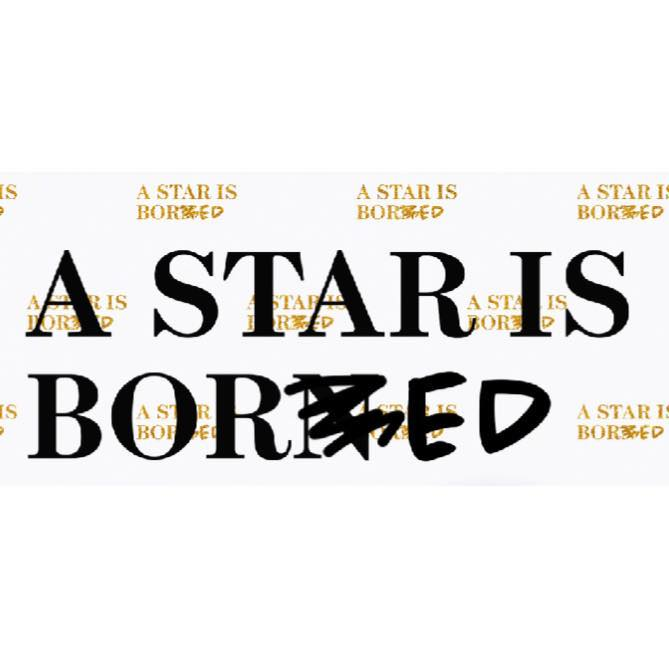 "In Black text, a star is born. The is n crossed out and ""e d"" is scribbled next to it."