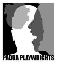 text padua playwrights with black and white silhouettes