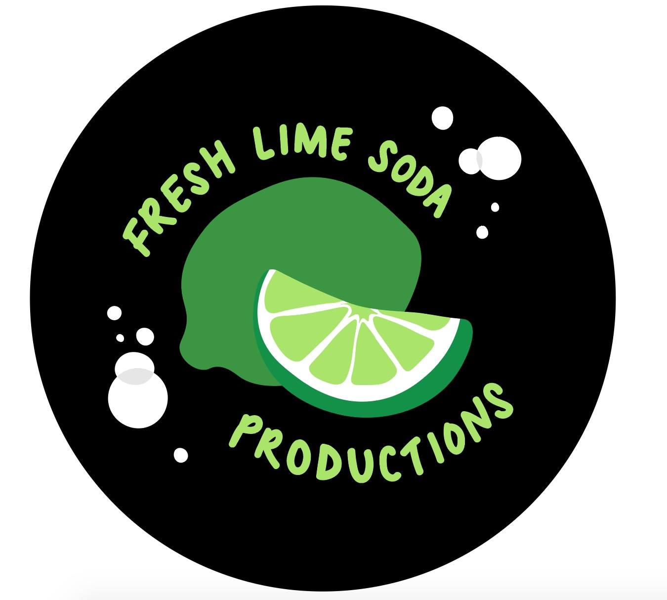 cartoon lime with text fresh lime soda