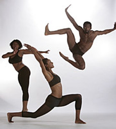 dancers performing against white background