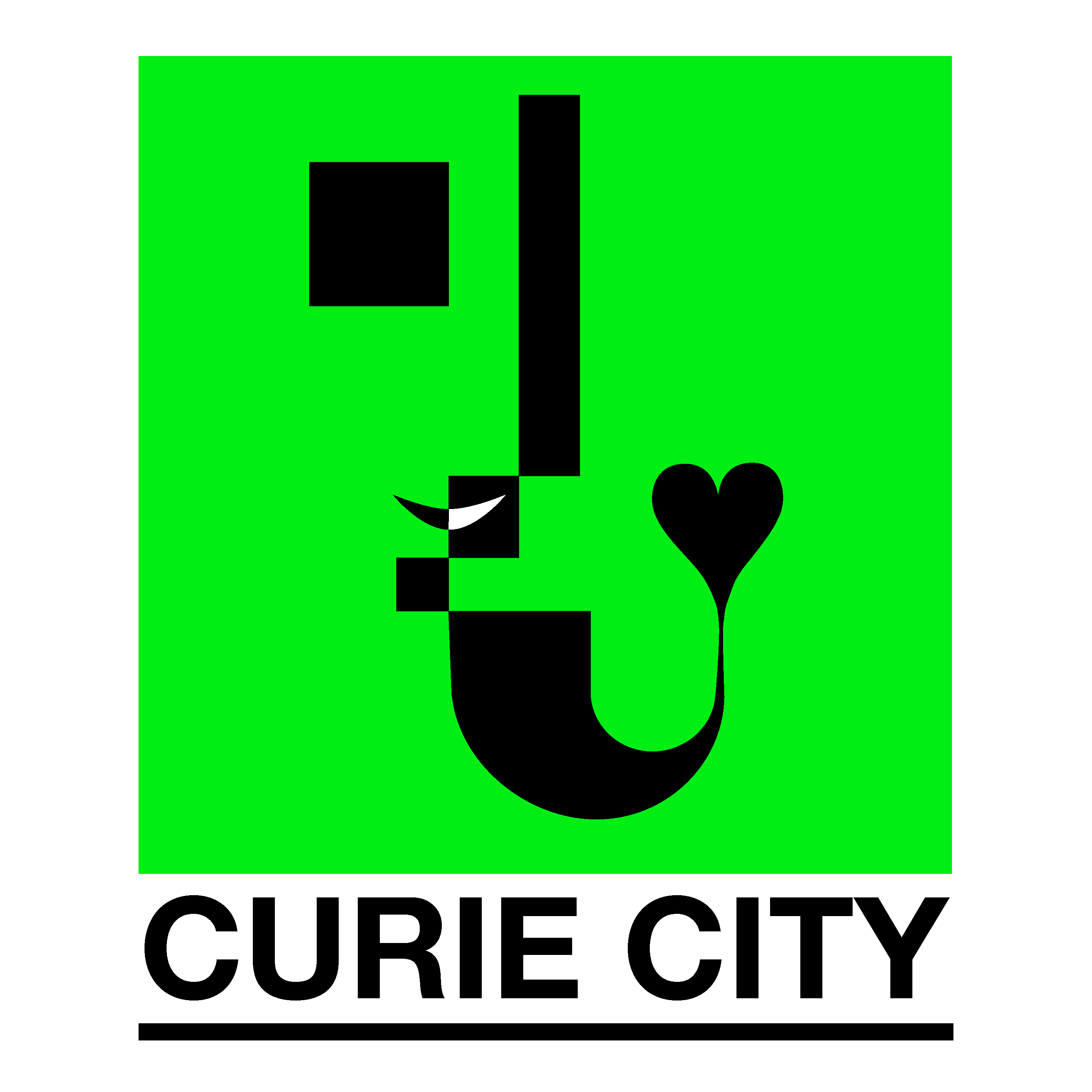 Curie City and Warsaw Bauhaus Logo.