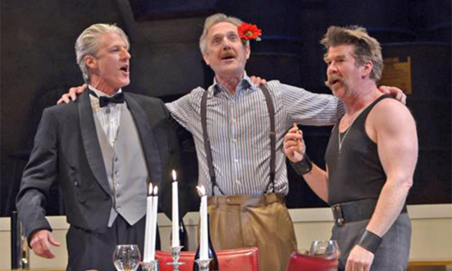 Photo from the play The Arsonists.