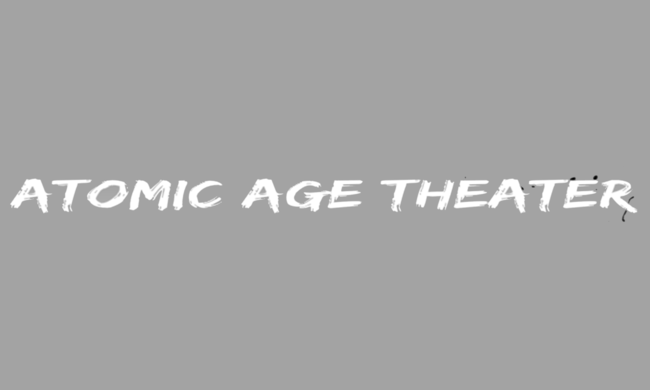 Logo for Atomic Age Theater.