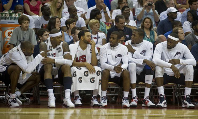 The 2012 USA men's basketball team.