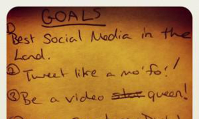 A list of goals.