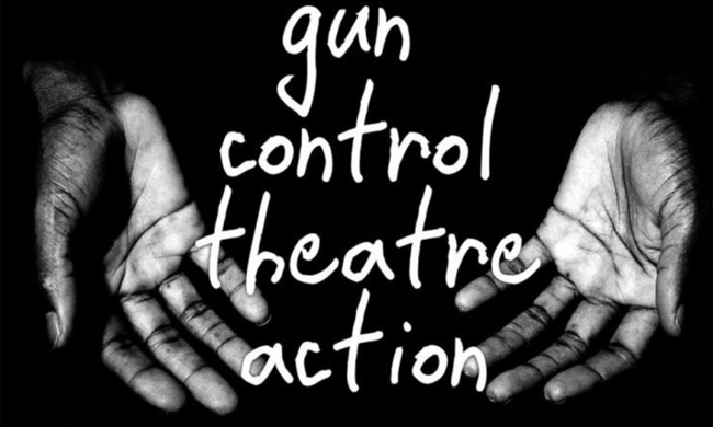 Poster for Gun Control Theatre Action.