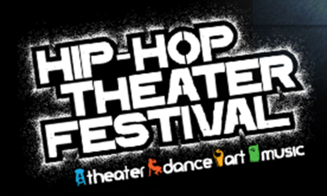 A logo for the Hip Hop Theatre Festival.