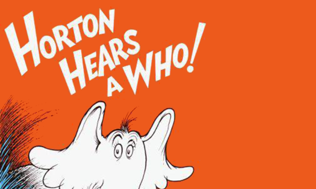 The cover of Dr. Seuss' Horton Hears A Who