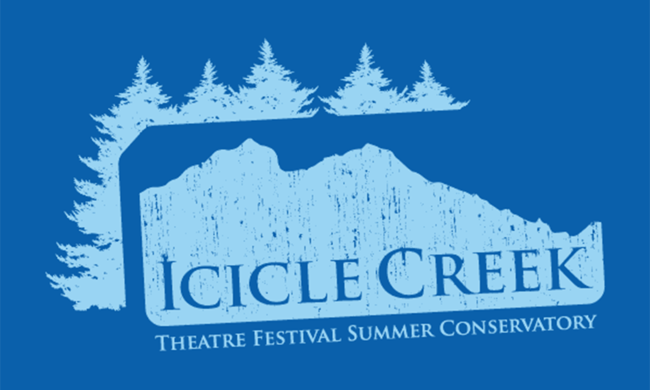 "A logo that reads ""Icicle Creek Theater Festival Summer Conservatory."""