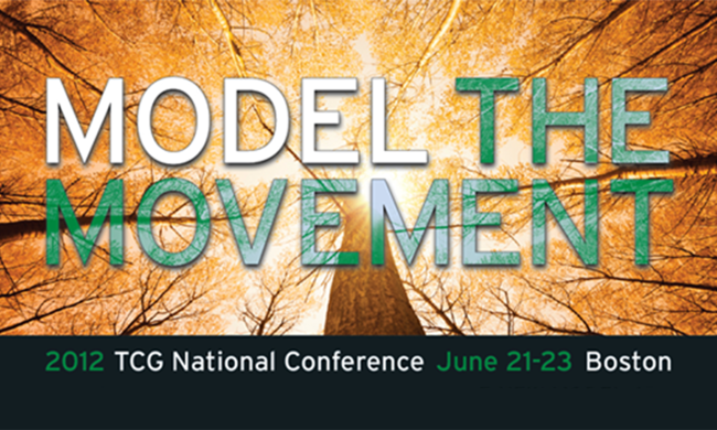 "A logo that reads ""Model The Movement"" with an image of a tree behind it."