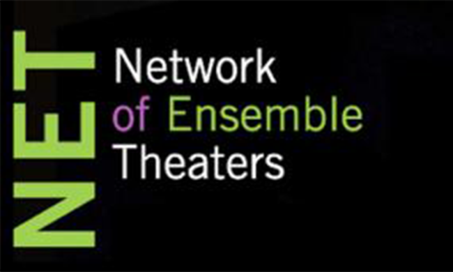 The logo for the Network of Ensemble Theaters.