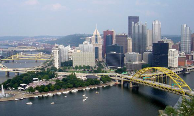 A landscape picture of Pittsburgh.