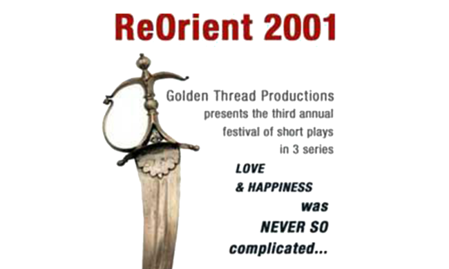 Poster for ReOrient 2001.