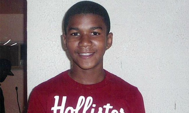 A portrait of Trayvon Martin as a child.