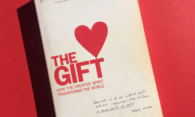 "A book entitled ""The Gift: How the creative spirit transforms the world."""