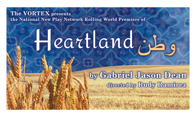 poster for heartland by Gabriel Jason Dean at the Vortex in Austin, Texas
