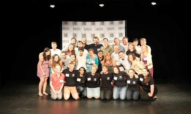 Playwright finalists and Samuel French staff.