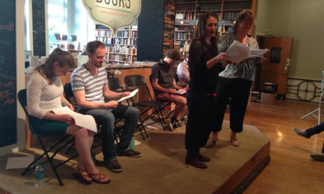 John Goodson's reading at Indy Actors' Playground.