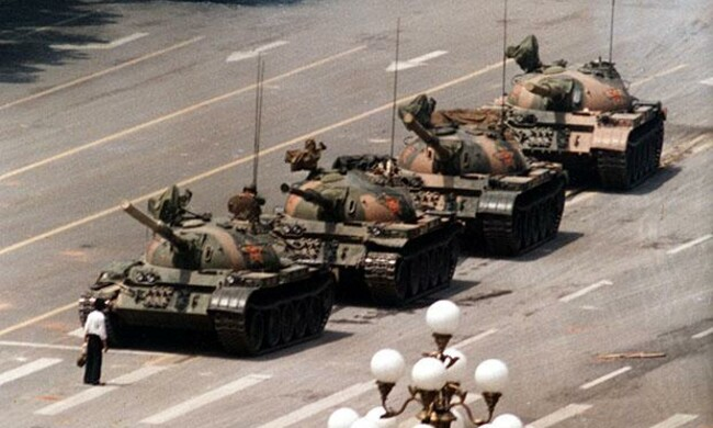 Photo from The Tank Man.