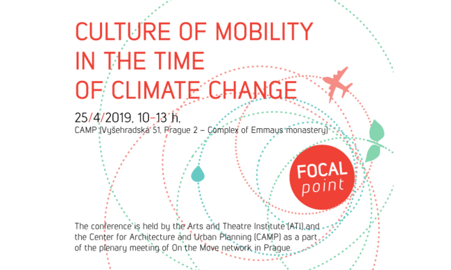 event flyer for the event entitled Culture of mobility in the time of climate change.