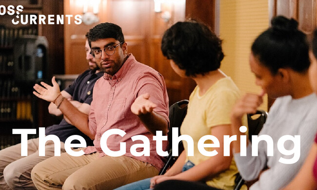 theater artists in discussion at the gathering