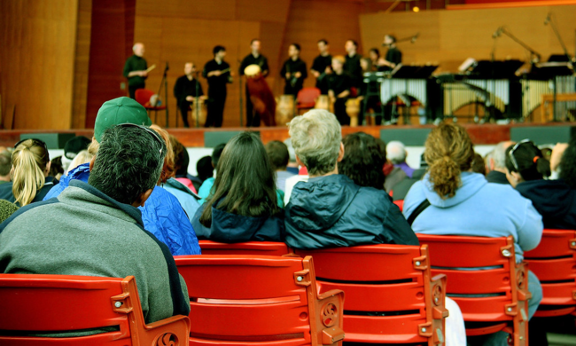 an audience view of a concert