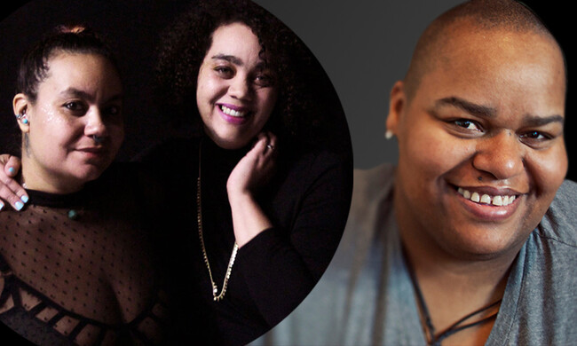 hosts adrienne maree brown and Autumn Brown with moderator Toshi Reagon