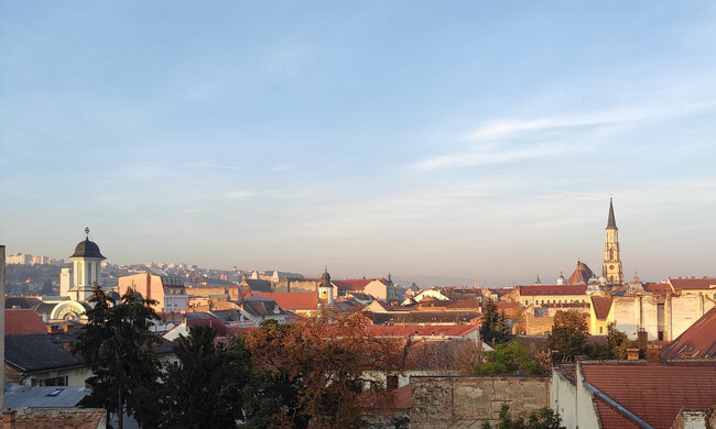daytime rooftop view of the city of cluj, romania