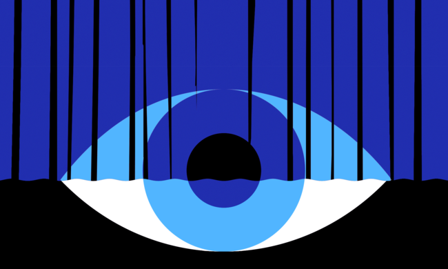 an illustration of a blue eye
