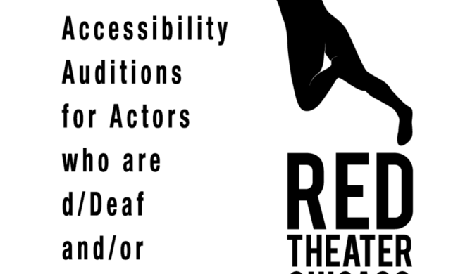 poster for red theater chicago's accessibility auditions