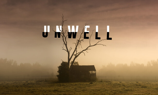 logo for unwell podcast