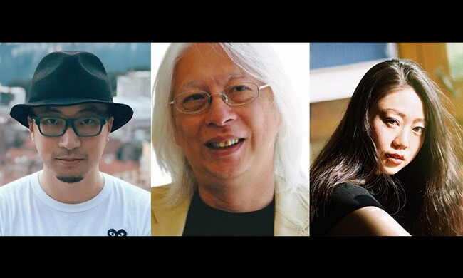 three artists portraits: Mok Chiu Yu, Hanchen Feng, Shuyi Liao