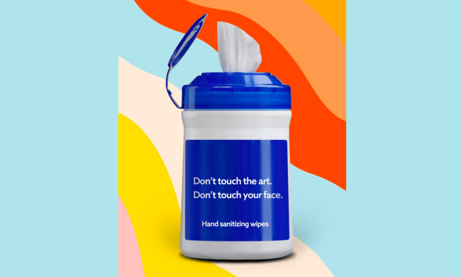 clorox wipes bottle on colored background