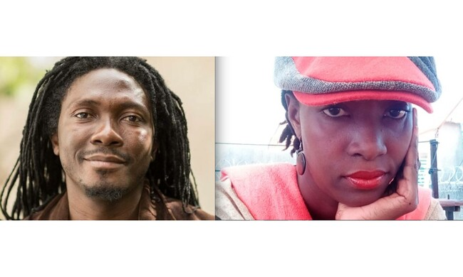 Edouard Elvis Bvouma and Hermine Yollo.