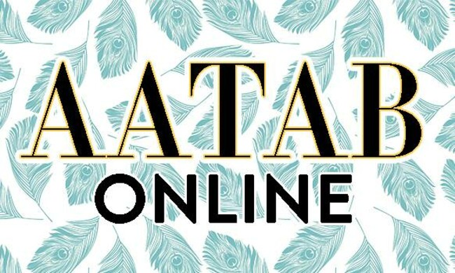 AATAB Online, on top of turquoise leaves