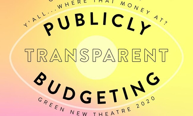 event text PUBLICLY TRANSPARENT BUDGETING