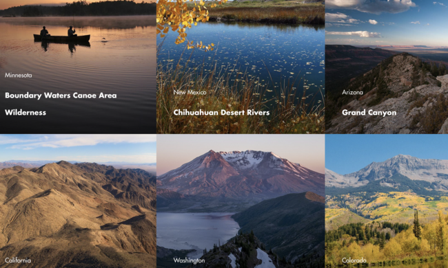 a college of multiple landscape photos