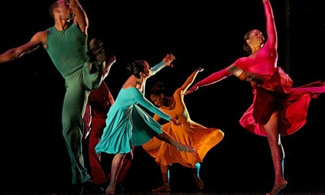 Five dancers in motion
