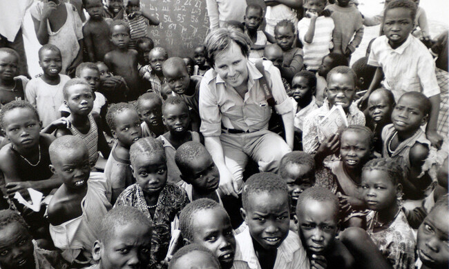 Paul Watson with Southern Sudan Kids During Civil War. Photo by Andrew Stawicki.