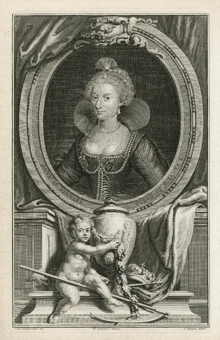 Illustration of Queen Ann of Denmark