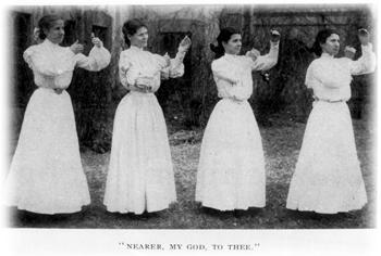 Four women outside