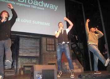 Men dancing and rapping on stage