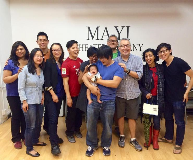 Rehana Lew Mirza, Mike Lew, baby and company