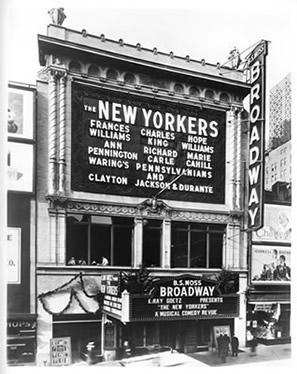 vintage photo of a theater exterior